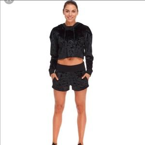 Body Glove Active Velour Cropped Hoodie